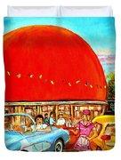 The Orange Julep Montreal Duvet Cover