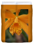 The Orange Orchid Duvet Cover