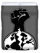 The Orchestrator Fist Duvet Cover