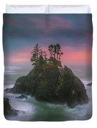 The Oregon Coast Sunset Duvet Cover
