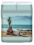 The Original Boy On The Seahorse Duvet Cover