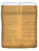 The Original United States Constitution Duvet Cover