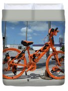 The Orioles Bicycle Duvet Cover