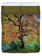 The Other Japanese Maple Tree In Autumn Duvet Cover