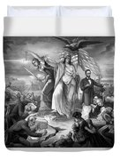 The Outbreak Of The Rebellion In The United States Duvet Cover