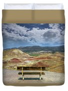 The Overlook At Painted Hills In Oregon Duvet Cover
