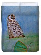 The Owl And The Butterfly Duvet Cover