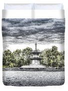 The Pagoda In The Snow Duvet Cover