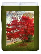 The Painted Leaves Duvet Cover