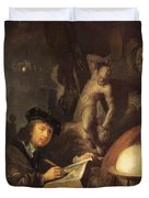 The Painter In His Workshop 1647 Duvet Cover