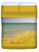 weather ,storm,weather ,clouds ,cloudy ,blue ,skies ,water, marine,beach, marine, cottage, Michigan, Duvet Cover