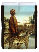 The Palace Guard With Two Leopards Duvet Cover
