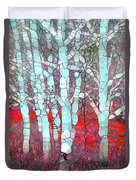 The Pale Trees Of Winter Duvet Cover