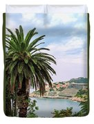 The Palm Is Always Associated With Summer, Sea, Travelling To Warm Countries And Rest Duvet Cover