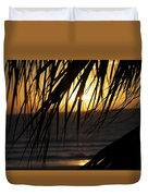 The Palm Tree In The Sunset Duvet Cover by Danielle Allard