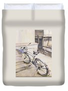The Paper Route Duvet Cover