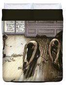 The Parquet Planers Duvet Cover by Gustave Caillebotte