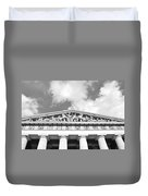 The Parthenon In Nashville Tennessee Black And White 2 Duvet Cover