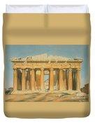 The Parthenon Duvet Cover by Louis Dupre