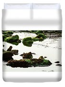 The Passetto Rocks And Water, Ancona, Italy Duvet Cover