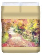 The Path In Autumn Duvet Cover