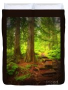 The Path Through The Forest Duvet Cover