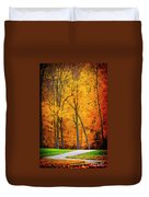 The Path To Autumn Duvet Cover