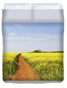 The Path To Bosworth Field Duvet Cover by John Edwards