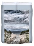 The Path To The Beach Duvet Cover