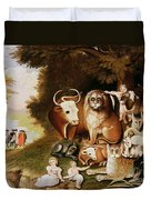 The Peaceable Kingdom Duvet Cover by Edward Hicks