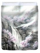 The Peach Blossoms In The Mountains Duvet Cover