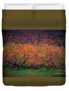 The Peach Orchard Duvet Cover