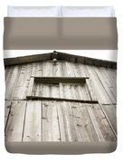 The Peak Of The Amana Farmer's Market Barn Duvet Cover