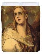 The Penitent Magdalene 1578 Duvet Cover