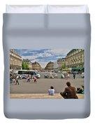 The Perfect View- Avenue De L'opera Paris  Duvet Cover