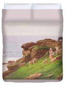 The Pet Lamb Duvet Cover by J Hardwicke Lewis