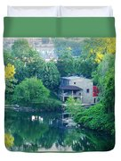 The Philadelphia Canoe Club At The Mouth Of The Wissahickon Duvet Cover