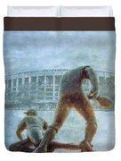 The Phillies At Veterans Stadium Duvet Cover