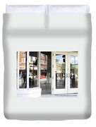 The Photographer And His Doppelganger Duvet Cover