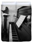 The Piano - Black And White Duvet Cover