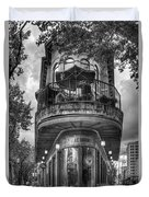 The Pickle Barrel 3 B W Flatiron Architecture Chattanooga Tennessee Art Duvet Cover