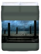The Pier And The Storm Duvet Cover