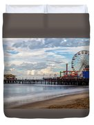 The Pier On A Cloudy Day Duvet Cover