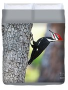 The Pileated Duvet Cover
