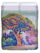 The Pine Tree At Saint Tropez Duvet Cover by Paul Signac