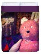 The Pink Bear Duvet Cover