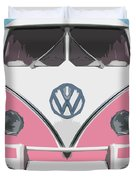 The Pink Love Bus Duvet Cover
