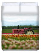 The Pink Tractor Duvet Cover