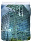 The Pinnacle Reflections Office Buildings Buckhead Atlanta Art Duvet Cover