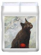 The Pious Cat Duvet Cover